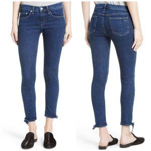 Rag & Bone Stevie Tie Hem Capri Skinny Jeans 24